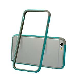 SEGPROSEGPRO Hybrid Bumper Frame Case Cover Silicon Bumper for Iphone 6 (blue/gray)