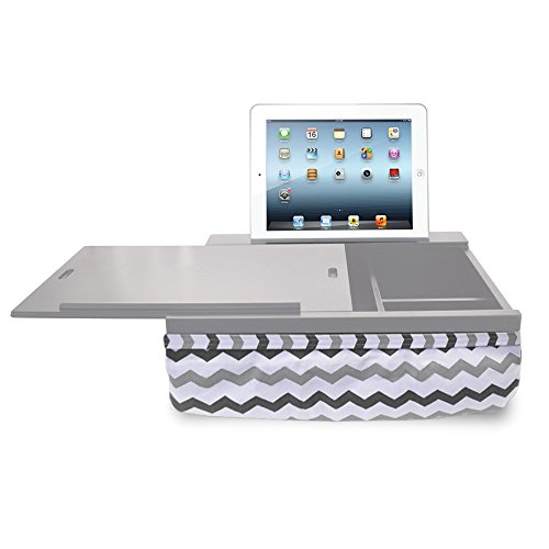 Buy Cheap iCozy Portable Cushion Lap Desk With Storage - Grey Chevron