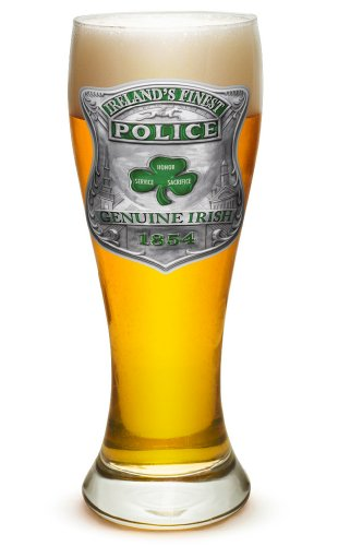 Pilsner - Police Officer Gifts for Men or Women - Law Enforcement Beer Glassware - Garda Irelands Finest Barware Glass (23 Oz) ()