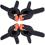 6 Inch Plastic Spring Clamps [by XFORT] Extra Strength Work Clips, Plastic Muslin Clamps Ideal for DIY Projects, Photo Studios & Arts and Crafts. [4 Pack, 6 Inch]