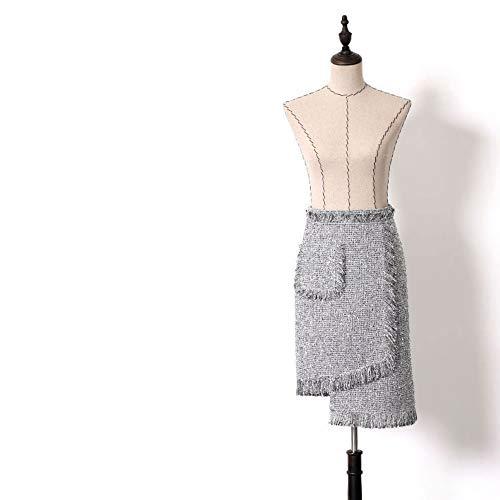 Cadera Irregular Seda Palabra Falda Borla Mujer Plata Faldas Xs Bolsa Vestido Mujer Qzbtu De Una 1qRFtxvtw