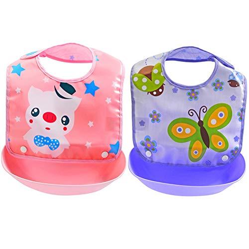 Ibnotuiy Cartoon Waterproof Silicone Baby/Toddler Bibs with