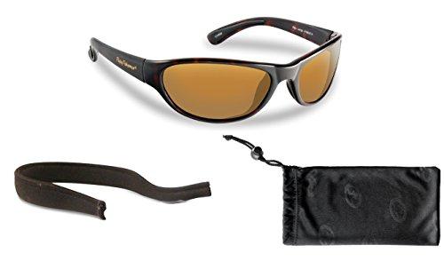Flying Fisherman Key Largo Polarized Sunglasses Bundle Kit, Tortoise/Amber