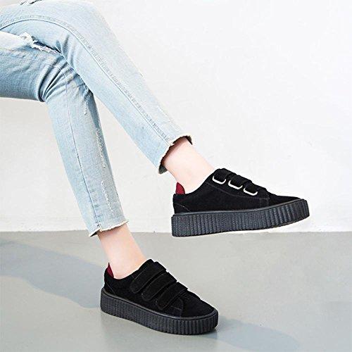 los zapatos del elevador Ms Spring hebilla escogen los zapatos zapatos casuales zapatos mollete de fondo grueso zapatos del estudiante , US7.5 / EU38 / UK5.5 / CN38
