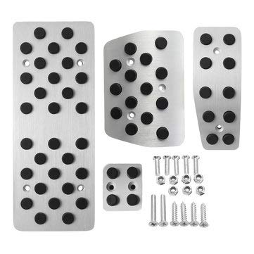 Interior Accessories Pedal Accessories - 4Pcs Car Foot Pedal Cover Brake Clutch GAS 4 Piese Silver