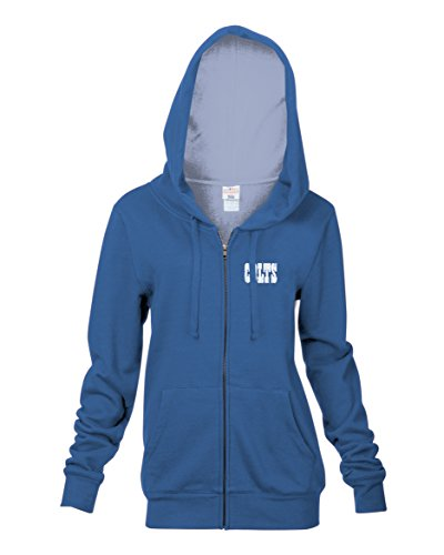 Lightweight Indianapolis Fleece Colts (NFL Indianapolis Colts Women's Full Zip Fleece Hoodie with Pouch Pocket, Blue, Medium)