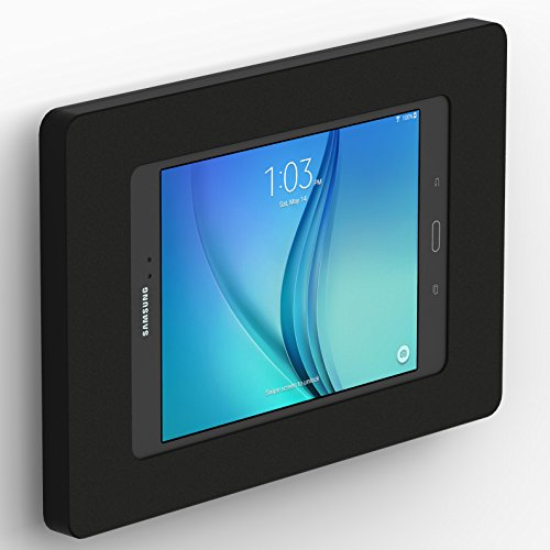 Samsung Galaxy Tab A 8.0 Black Enclosure w F Slim VESA Wall Mount [Bundle] by VidaBox Kiosks
