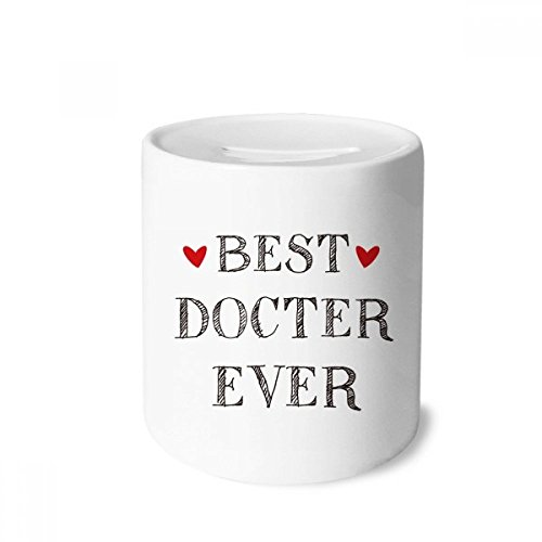 DIYthinker Best Doctor Ever Quote Profession Money Box Saving Banks Ceramic Coin Case Kids Adults