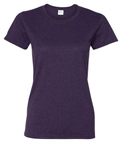 (Gildan Women's Heavy Crewneck Cap Sleeve T-Shirt)