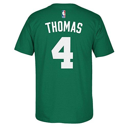 Boston Celtics Isaiah Thomas Adidas NBA Men Player T Shirt GreenXXL (Nba Mens Tee Adidas Player)