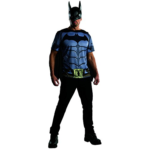 Rubie's Costume Men's Batman Arkham City Adult Batman Top, Multicolor, (City Party Halloween Costumes)