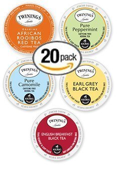 20-count K-cup for Keurig Brewers Tea Variety Pack Featuring Twinings Tea