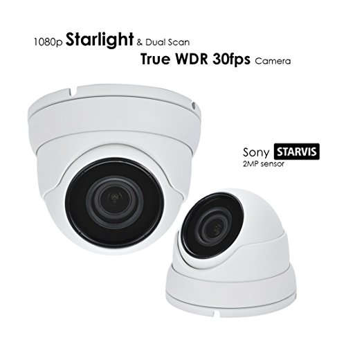 AED 1080P EX-SDI HD-SDI TVI SONY STARLIGHT CMOS TRUE WDR 30fps WITH DUAL SCAN, 4 in 1 SMD IR DOME CAMERA WITH 3MP MOTORIZED AF 2.8MM 12MM PREMIUM LENS AND TINTED GLASS
