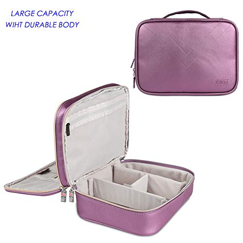 - BUBM Travel Electronics Cable Organizer Bag, Double Layers Laptop Accessories Carrying Case, Electronic Gadget Storage Case for Power Bank Adapter Hard Drive Kindle Charger Cords USB (Large Purple).