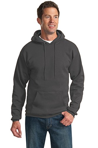 Tall Hooded Pullover (Port & Company Men's Tall Ultimate Pullover Hooded Sweatshirt LT Charcoal)