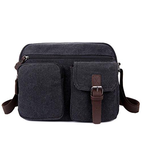 Canvas Messenger Bag A Tracolla Zaino Da Viaggio Zaino Scuri,B-OneSize