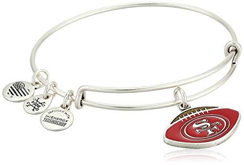 Alex Ani Women's Color Infusion San Francisco 49ers Football II EWB Bracelet Rafaelian Silver