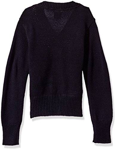 U.S. Polo Assn Little Girls' Big Button Hooded Sweater