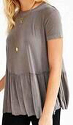 erdbeerloft - Camiseta - Opaco - para mujer gris