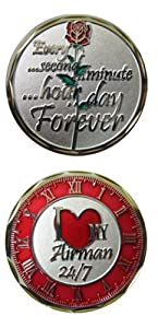 "United States Military US Armed Forces ""I Love My Airman"" - Good Luck Double Sided Collectible Challenge Pewter Coin"