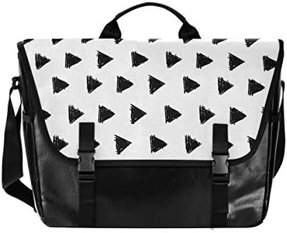 メッセンジャーバッグ メンズ 幾何学模様 三角 白黒 シンプル 斜めがけ 肩掛け カバン 大きめ キャンバス アウトドア 大容量 軽い おしゃれ