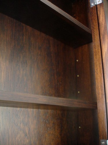 D&E Wood Craft Cabinets Dark Walnut Recessed Medicine Cabinet & Mirror/Michelle