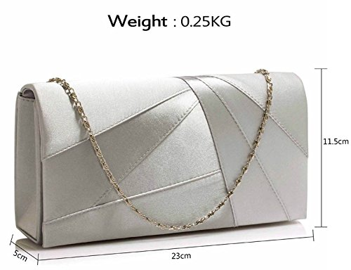 New Case Ladies Women look Evening Hard For Silver Design Party Designer Satin Bag Luxury 1 Clutch Purse Wedding Handbag xgSqxOP