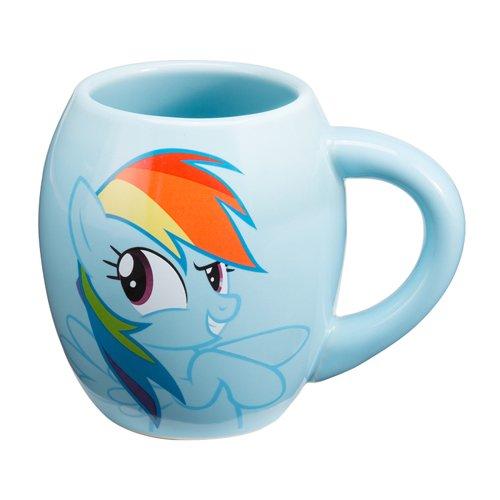 Vandor 42261 My Little Pony Rainbow Dash 18 oz Oval Ceramic Mug, Multicolor