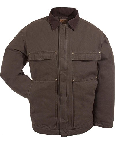 Berne Men's Original Washed Chore Coat 3XL and 4XL Olive Green XXX-Large