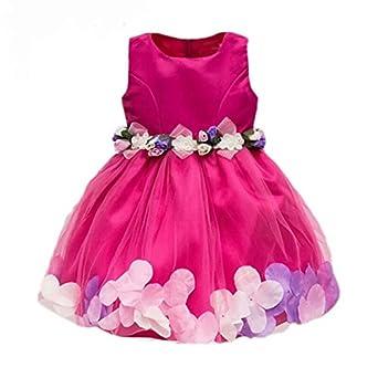 8dc181928 Baby Girl Frocks Birthday Party Wear Dresses Girls Fancy Designer Pink  Dress.. (4