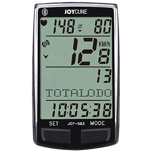 JOYCUNE Bluetooth Bike Computers Wireless Bicycle Speedometer Odometer HR Monitor