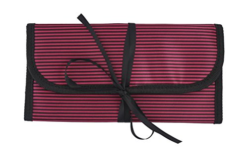 8-x-11-hanging-travel-jewelry-accessories-organizer-roll-bag-hot-pink-black-stripes-exterior-hot-pin