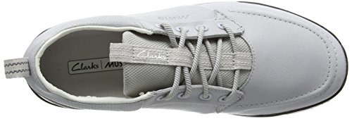 Clarks Orson Crew Herren Sneakers Grau (Light Grey Lea)