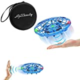 HYSBeauty UFO Flying Ball Toys, Gravity Defying Hand-Controlled, UFO Drones Toys, Infrared Induction Interactive Drone Indoor Flyer Toys with 360°Rotating & LED Lights for Kids, Boys & Adults(Blue)