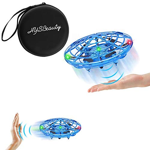 HYSBeauty UFO Flying Ball Toys, Gravity Defying Hand-Controlled, UFO Drones Toys, Infrared Induction Interactive Drone Indoor Flyer Toys with 360°Rotating & LED Lights for Kids, Boys & Adults(Blue) by HYSBeauty (Image #7)
