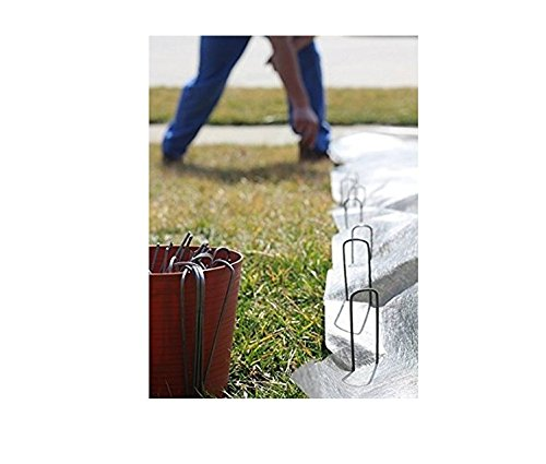 Garden Securing Pegs Heavy-Duty U-Shaped Pegs - Galvanized staples ideal For Securing Weed Fabric, Landscape Fabric, Netting, Ground Sheets And Fleece, Garden Spikes 20-Pack 6'' 11 by SXNING (Image #5)