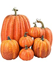 7 stks Kunstmatige Pompoenen Nep Simulatie Pompoen Halloween Thanksgiving Decor Kunstmatige Pompoenen