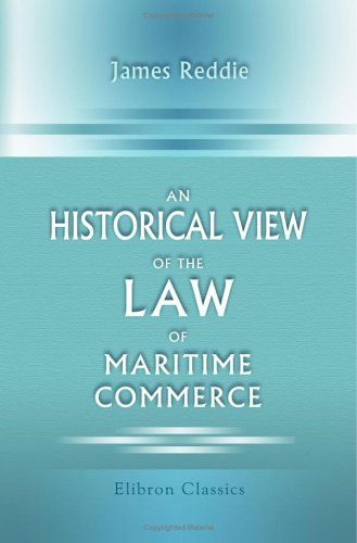 Download An Historical View of the Law of Maritime Commerce pdf