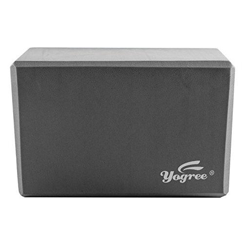 Yogree High Density EVA Foam Brick Yoga Block, (9 x 6 x 4) Inches – Grey, 1 Piece