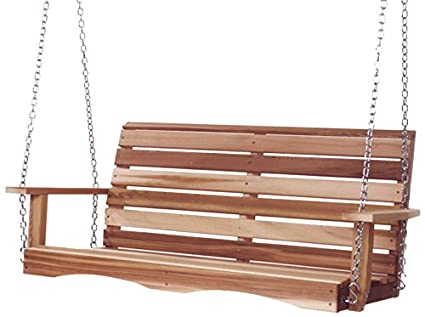 Amazon all things cedar ps48 u porch swing 4 garden outdoor all things cedar ps48 u porch swing 4 solutioingenieria Image collections