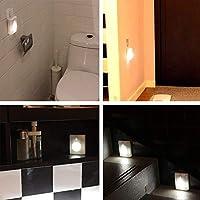 CUHAWUDBA Sensores de Movimiento Luz de Escalera LED Luces Nocturnas Pegajosas para Escaleras Pasillos Armarios Ba?Os para Interiores o Exteriores Usar en la Oscuridad: Amazon.es: Iluminación