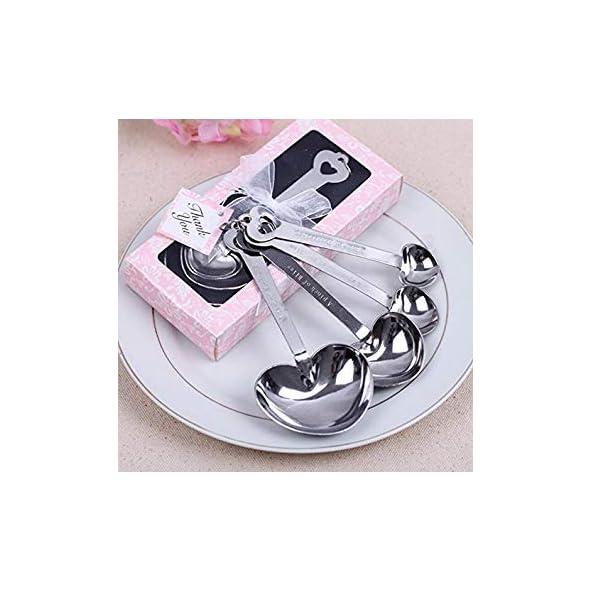 Babies Bloom Baby Shower 4 Heart Measuring Spoons Set (Baby Shower Gift Set) (Set of 2)