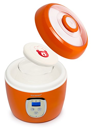 Ouruz FE0205D/OR Yogurtiere, Arancio [Classe di efficienza energetica A] Oursson