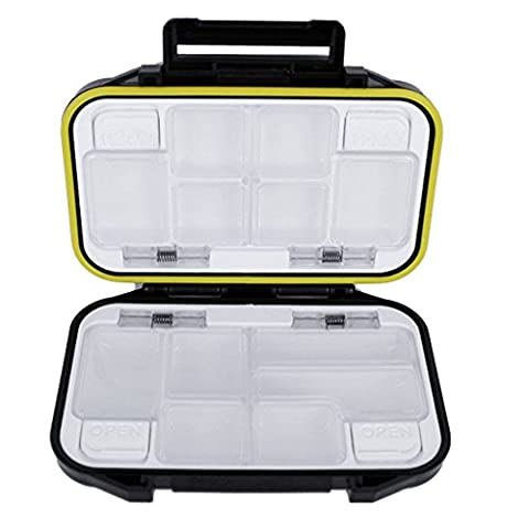 Ezyoutdoor Plastic 12 Compartments Storage Case Fly Fishing Lure Spoon Hook Bait Tackle Box Waterproof - 12 Compartment Fly Box