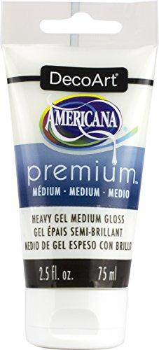 DecoArt Gel Americana Premium Acrylic Medium Paint Tube - Ounce Gel Gel 2.5