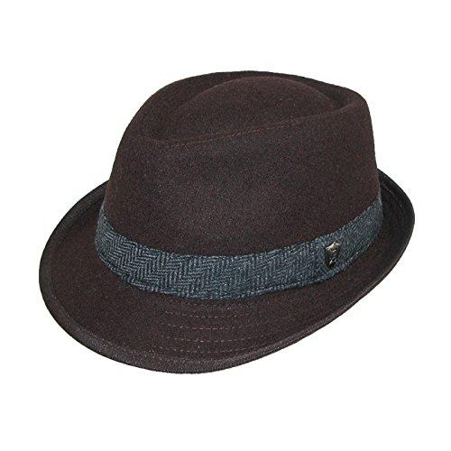 Dorfman-Pacific-Mens-Wool-Herringbone-Band-Classic-Fedora-Hat