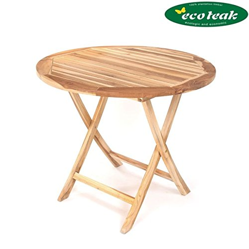 PLOSS ECO-TEAK® TISCH LEXINGTON - RUND Ø 90 CM , KLAPPBAR