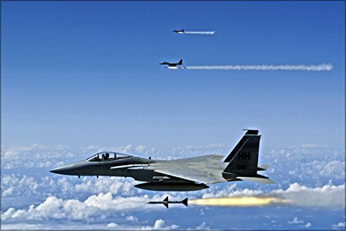 42x63 Poster; F-15A Eagle F-15 Hawaii Air National Guard, Aim-7 Sparrow - F-15a Eagle
