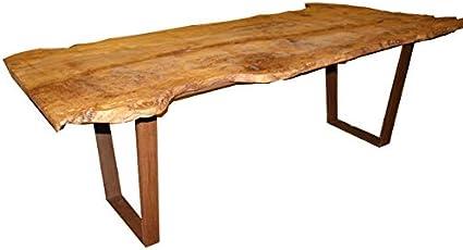Cam Carollo Mobili Tavolo In Radica Di Olmo Modello Real Wood Fatto A Mano Amazon It Casa E Cucina