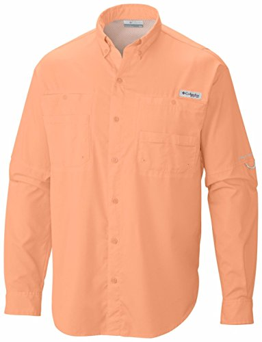 Medium Columbia Mens Bonehead Long Sleeve Shirt Island Orange